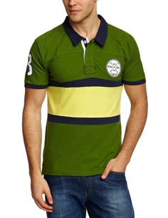 SELECTED HOMME Herren T-Shirts Polo Shirt - Grün - Garden Green - Small…