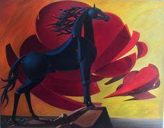 Popular Artists, Great Artists, Equestrian Decor, Blue Horse, Equine Art, My Hero Academia Manga, Figure Drawing, Paper Cutting, Paper Art