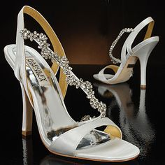 What a cute wedding shoe!