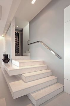 Awesome Stairs Design Home. Now we talk about stairs design ideas for home. In a basic sense, there are stairs to connect the floors Interior Stairs, Interior Architecture, Interior And Exterior, Interior Modern, Interior Ideas, Stair Shelves, Storage Stairs, Low Shelves, Display Shelves