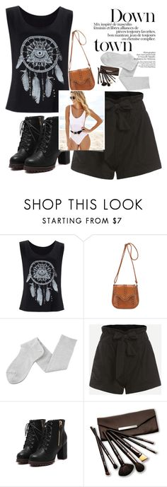 """""""// ROMWE // 2/XVII"""" by nura-akane ❤ liked on Polyvore featuring Margaret Howell and Borghese"""