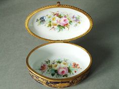 Antique French Porcelain Sevres Jewelry Box