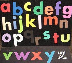 Lowercase Felt Letters  Flannel Board Set & by flirtyflannels66, $20.00