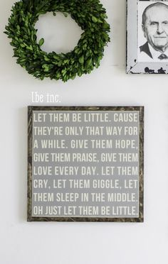 let them be little rustic nursery sign