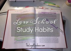 Now that I am a few weeks into Law School, my study habits have settled into a routine. It is working well for me. It has taken me a long...
