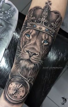 70 Lion Tattoos Women and Men TopTatuagens 70 Lion Tattoos Women and Men TopTatuagens Lion Forearm Tattoos, Outer Forearm Tattoo, Lion Head Tattoos, Forarm Tattoos, Mens Lion Tattoo, Top Tattoos, Female Lion Tattoo, Half Sleeve Tattoos For Guys, Half Sleeve Tattoos Designs