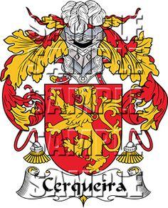Cerqueira Family Crest apparel, Cerqueira Coat of Arms gifts