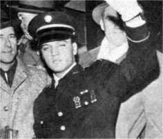 Elvis march 7 1960 back in Memphis after two years in the army.