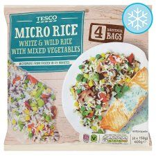 Tesco 4 Micro Rice With Mixed Vegetables 600G - Groceries - Tesco Groceries - SYN FREE