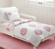 Dahlia Toddler Quilted Bedding | Pottery Barn Kids