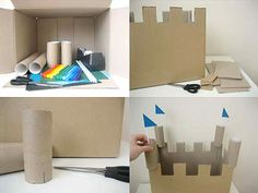 We could have a few wet days ahead of us so here's a lovely Recycled Castle craft project I latched onto…all you need is a small cardboard box, toilet rolls, coloured paper and straws – bits you'd normally throw into the Optibag. read on for step by step intructions step one: ..remove flaps from box [&hellip
