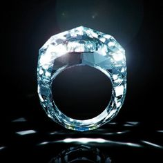 """The """"World's First All-Diamond Ring"""" weighs in at 150 carats and is made entirely out of a single cut and finished diamond. Approximately 68mln USD"""
