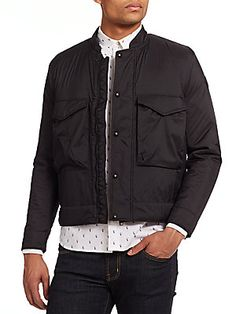 Paul Smith Jeans Fleece-Lined Cropped Bomber Jacket