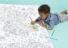A super fun way to introduce the world to kids is this giant colouring poster. Spotted at Merci in Paris it makes a great gift for creative kids. World Colouring Poster, Buy Now Similar gift ideas:DoodleArt Mindfulness Colouring BookYou're Adult Coloring Pages, Coloring Sheets, Coloring Books, Art For Kids, Crafts For Kids, Cadeau Design, Poster Colour, Design Studio, Business For Kids