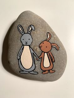 painting Informations About Steinmalerei - Rockart - Hase Pebble Painting, Dot Painting, Pebble Art, Stone Painting, Rock Painting Ideas Easy, Rock Painting Designs, Paint Designs, Painted Rocks, Hand Painted