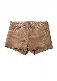 TWIST & TANGO Florida Leather Shorts Cognac
