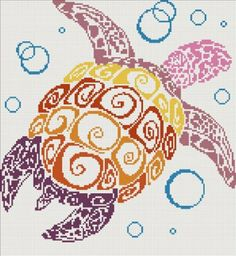Amazon.com - Turtle - Modern Cross Stitch Kit