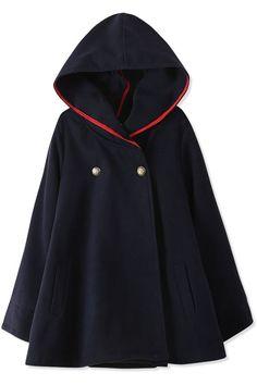 Essential Fashion Hooded Woolen Cape