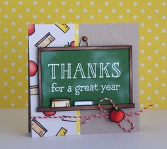 Lawn Fawn - A Good Apple, Peppermint Lawn Trimmings _ card by Yainea