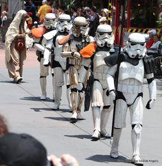501st Legion on parade during Walt Disney World Star Wars Days