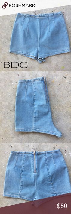 BDG High Waist Shorts aka Hot Pants NWOT. These would be so cute with a monogrammed tank. Think fluorescent colors and strappy sandals! Sweater tights and boots would also look great with these! RRB loves offers but cannot trade at this time. ~{We are ALL beautiful.}~ BDG Shorts Jean Shorts