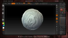 Fast Cloth Alpha Creation in ZBrush | Eat 3D