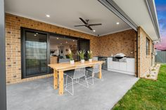 Portside Display Homes in Central Gippsland Outdoor Living Areas, Outdoor Dining, Living Spaces, Make Build, Alfresco Area, Study Nook, Display Homes, Open Plan Living, Model Homes