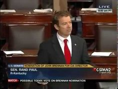 Rand Paul Filibusters John Brennan Over Drone Policy - March 6, 2013