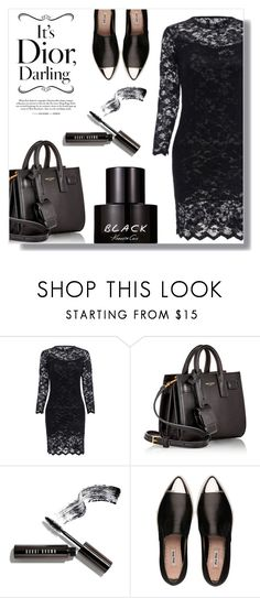"""""""Untitled #534"""" by fashion-pol ❤ liked on Polyvore featuring Yves Saint Laurent, Bobbi Brown Cosmetics, Miu Miu and Kenneth Cole"""