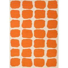 Check out the Jaipur RUG1026 Maroc Flat-Weave Geometric Pattern Wool Orange/Ivory White Area Rug
