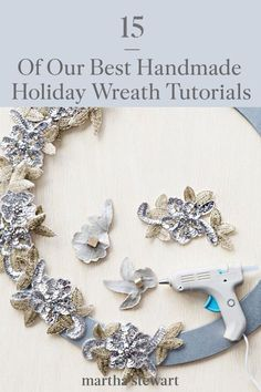 These are our favorite holiday wreaths that you can DIY at home with a few classic holiday supplies like pinecones, Christmas bulbs, laurel branches, and more. Find your new favorite holiday wreath with our gallery of tutorials and other DIY holiday decor ideas. #marthastewart #christmas #diychristmas #diy #diycrafts #crafts