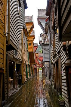 Old Wharf, Bryggen, Bergen, Norway - UNESCO WHS