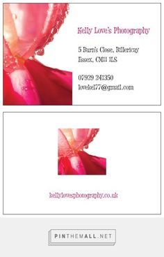 New Business Cards! | Kelly Love's Photography