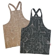 Pinny Apron  Mushrooms by skinnylaminx on Etsy, $48.00
