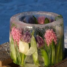 DIY: Slik lager du en dekorert islykt, uten form. (video). Ice lantern without mold.