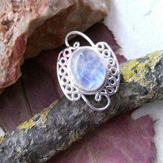 Mondstein, Ring, Ø 17,25 mm, 925 Sterling Silber in Uhren & Schmuck, Echtschmuck, Ringe | eBay!