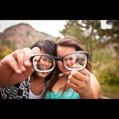 See yourselves through a different lens. | 37 Impossibly Fun Best Friend Photography Ideas