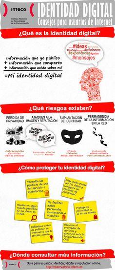Identidad digital: consejos para usuarios en Internet #infografia