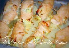 involtini di pollo con philadelphia Prosciutto Cotto, Fish And Meat, Cooking Time, Shrimp, Cabbage, Food And Drink, Philadelphia, Chicken, Dinner