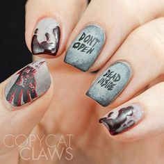 Nail It! Daily: The Walking Dead inspired nails. #thewalkingdead
