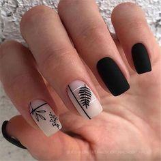 Cute Nails, Pretty Nails, My Nails, Hair And Nails, Nails Today, Nagellack Design, Nagellack Trends, Black Acrylic Nails, Black Nails