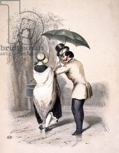 'The Milliner' or 'A Way to Engineer an Introduction', c.1840 (colour litho)