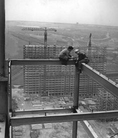 For decades they have dominated the Glasgow sky line. But today, the city's iconic Red Road flats, which once housed more than people, are… Old Photos, Vintage Photos, Vintage Photographs, Glasgow City, Tower Block, Glasgow Scotland, Iron Work, Construction Worker, Old Postcards