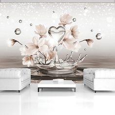 Wallpaper steine herz  VLIES FOTOTAPETE * 3 Farben zur Auswahl * TAPETEN ORCHIDEE BLUME ...