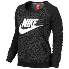 Nike crew neck leopard print sweatshirt