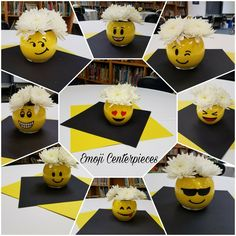 Emoji Centerpieces for a fun occasion with a little sass! Emoji Centerpieces for a fun occasion with a little sass! Birthday Party Centerpieces, Diy Birthday Decorations, 10th Birthday Parties, Birthday Party Themes, Birthday Cakes, Emoji Theme Party, Birthday Greetings For Women, Unicorn Party, Girls Fun