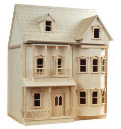 1-12-Scale-Streets-Ahead-Dolls-House-Unpainted-Ashburton-House-Kit
