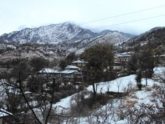 View from Shali Heights - A Himalayan Home Stay in winters.