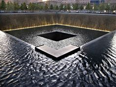 """Michael Arad, """"Reflecting Absence"""" - World Trade Center, photo by LizBaller Abstract Landscape, Landscape Architecture, Cubic Architecture, World Trade Center Site, Boston Marathon Bombing, September 11, American History, Places To See, Monuments"""