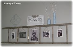 Old ladder recycled, also want to do something similar with an old wooden ladder, standing against my bedroom wall for hanging my necklaces, scarves etc on